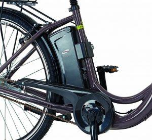 Der Motor von einem Damen E-Bike